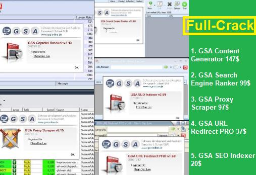Tool GSA Search Engine Ranker Captcha Breaker Crack