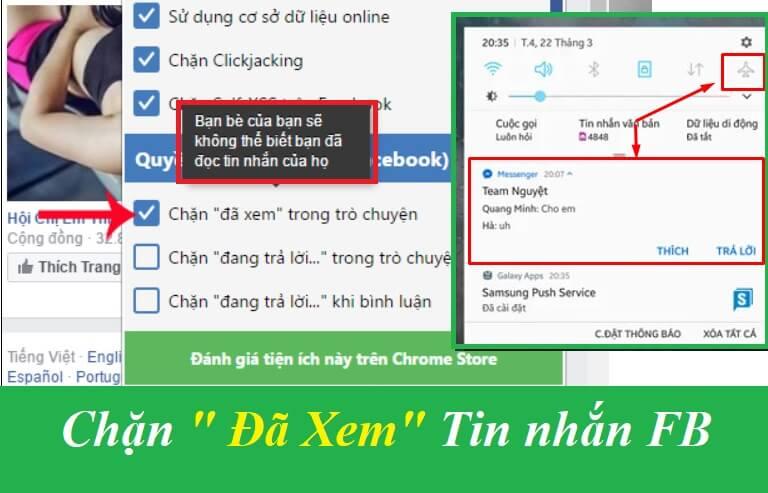 Cách Tắt Đã xem trong tin nhắn Unseen Messenger trên Facebook