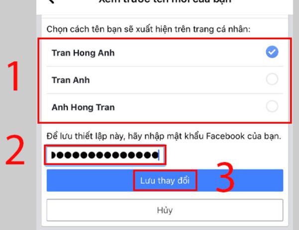 đổi tên facebook 2021