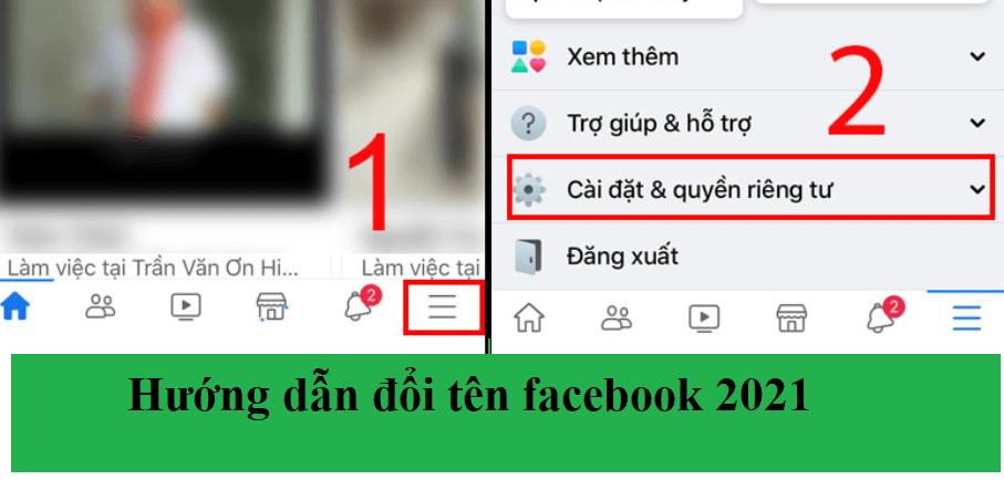 Hướng dẫn đổi tên trang cá nhân trên facebook