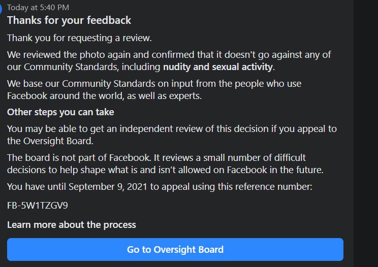 Ủy Ban Giám Sát oversightboard Kháng nghị quyết định về nội dung trên Facebook hoặc Instagram