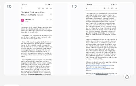 Mail thông báo [ câu hỏi về chính sách dữ liệu facebook ]